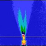 Gradientul de temperatura la un Jet bifazic in infrarosu
